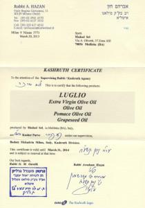LUGLIO-kosher-certificate