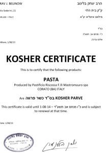 RISCOSSA-kosher-certificate